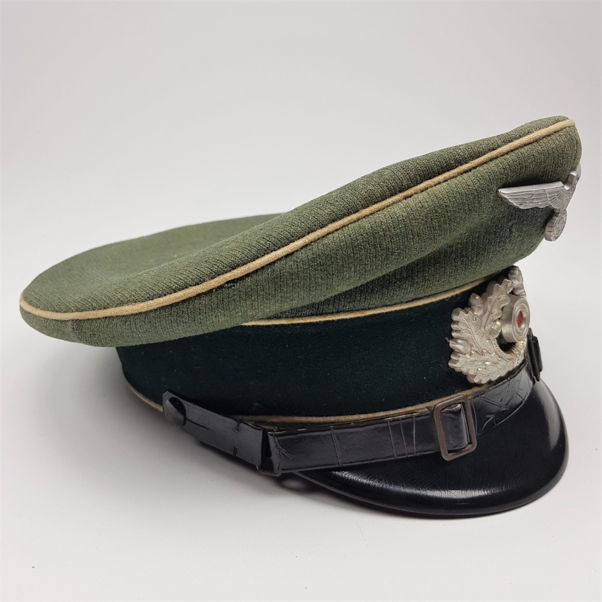 af63d49a25f German infantry NCO visor cap - Holding History