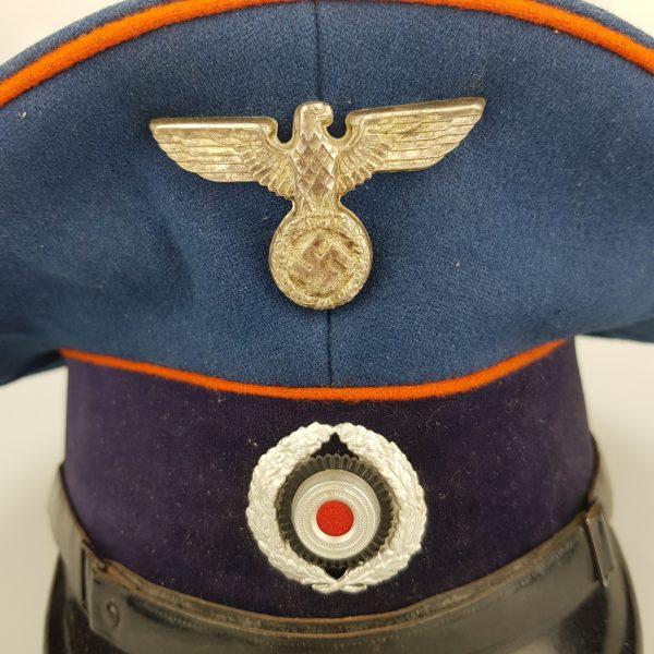 a93c7ac1992 Home   German Militaria   Helmets and headgear   German Reichspost visor cap